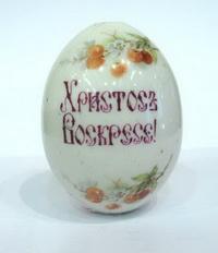 Пасхальное яйцо (фарфор, глазурь, деколь)