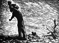 Жажда (Л. Мендес, линогравюра, 1948 г.)