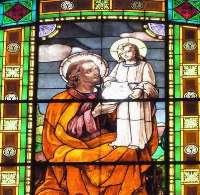 Фото витража в церкви Санта Мария делла Витториа, Рим