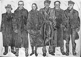 Колхозники села Чутово (цинкография)