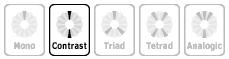 Кнопка «Contrast» в перечне моделей цветовых схем