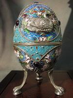 Пасхальное яйцо (эмалирование по скани)
