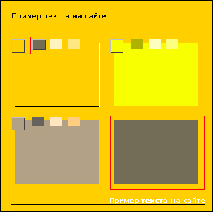 Правая часть области примера (выделено красным)
